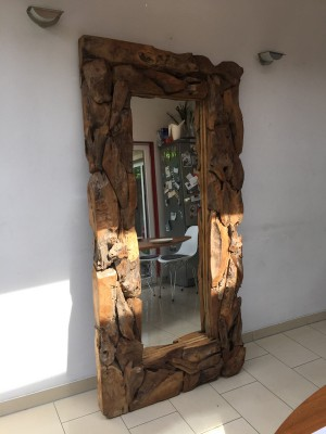 Spiegel Altholz-Rahmen, Wandspiegel, Maße 160x100 cm