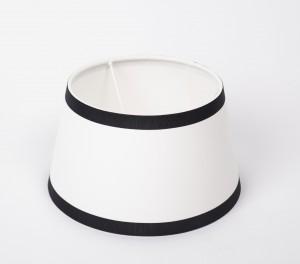 Lampenschirm, Weiß-Schwarz, Form rund Ø 25 cm