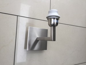 Wandleuchte satiniert Silber, Farbe silber, Wandlampe Silber für Lampenschirme