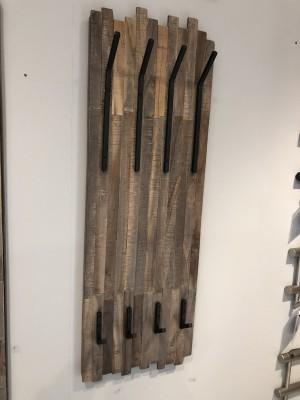 Wandgarderobe Holz-Metall, Garderobe Holz, Breite 35 cm