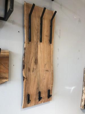 Wandgarderobe Holz-Metall, Garderobe Holz