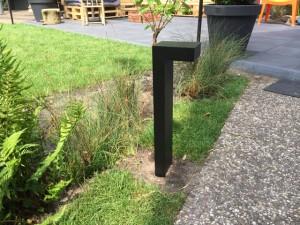 Gartenleuchte schwarz, Außenstandleuchte schwarz, Standleuchte außen schwarz, Höhe 60 cm