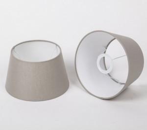 Lampenschirm für Tischleuchte, Form rund, Farbe Leinen, Durchmesser 20 cm