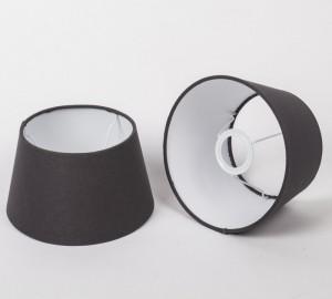 Lampenschirm für Tischleuchte, Form rund, Farbe Grau-Braun, Durchmesser 20 cm