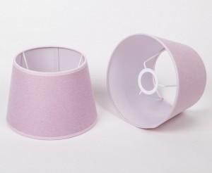 Lampenschirm für Tischleuchte, Form rund, Farbe Rosa, Durchmesser 20 cm