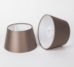 Lampenschirm für Tischleuchte, Form rund, Farbe Taupe, Durchmesser 20 cm
