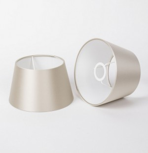 Lampenschirm für Tischleuchte, Form rund, Farbe Champagne, Durchmesser 20 cm