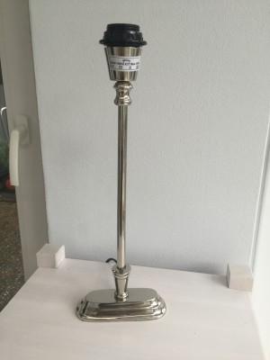Lampenfuß silber rechteckig, Tischleuchte, Lampenfuß verchromt, Höhe 40 cm