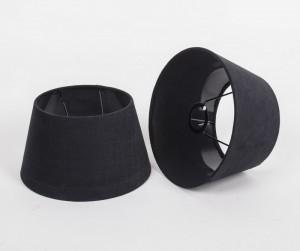 Lampenschirm rund, Farbe Schwarz, Ø 25 cm