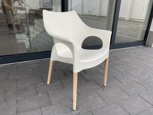 Stuhl weiß, Stuhl mit Armlehne weiß