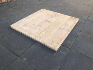Tischplatte Holz massiv, massive Holztischplatte, Bistrotisch Platte Maße 100x100 cm