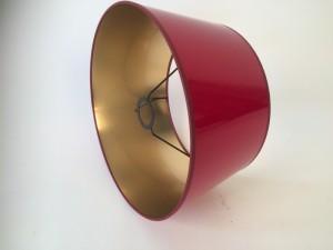 Lampenschirm rot-gold,  Ø 20 cm