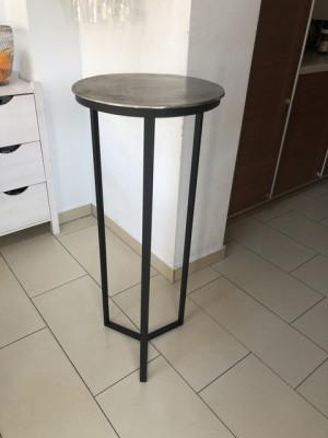 Dekosäule schwarz Metall, Säule Metall schwarz, Beistelltisch rund Metall,  Durchmesser 40 cm