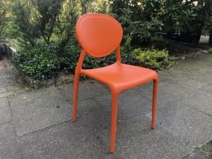 Gartenstuhl orange, Stuhl Kunststoff, Stuhl orange