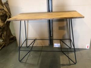 Bartisch schwarz Industriedesign, Bartisch Holz-Metall, Breite 140 cm