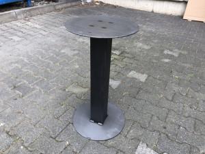 Bartischgestell Metall grau, Tischgestell grau Metall, Stehtisch-Gestell Metall, Höhe 100-110 cm