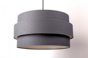 Pendelleuchte mit einem Lampenschirm, Moderne Hängeleuchte, anthrazit, Ø 60 cm