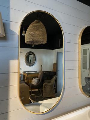 Spiegel oval, Spiegel Gold, Wandspiegel Gold, Maße 75 cm
