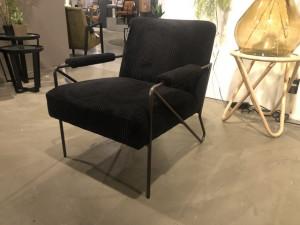 Sessel schwarz, Sessel Cord schwarz