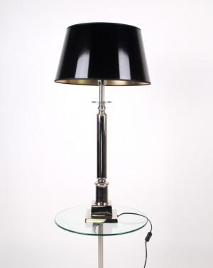 Tischlampe Klassik, Tischleuchte, Farbe chrome-schwarz-gold, Höhe 90 cm