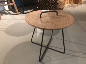Beistelltisch rund, runder Beistelltisch, Beistelltisch rund Metall-Gestell, Durchmesser 45 cm
