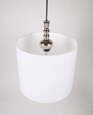 Moderne Pendelleuchte, Lampenschirm weiß, Ø 35 cm