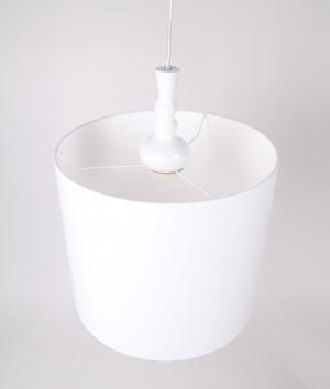 Moderne Pendelleuchte, Lampenschirm weiß