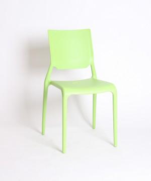 Design Stuhl Kunststoff grün