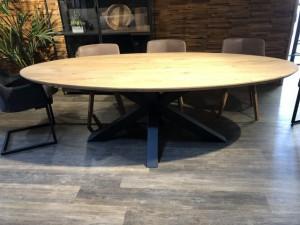 Tischplatte oval, ovale Tischplatte Eiche massiv, oval Eichen-Tischplatte, Länge 260 cm