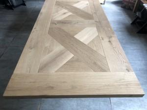 Tischplatte Eiche massiv, Tischplatte rechteckig Eiche, Länge 200 cm