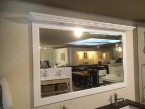 Spiegel weiß mit Beleuchten, Spiegel Massivholz, Breite 138 cm