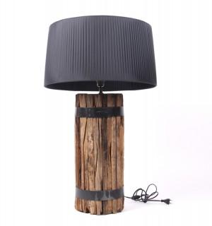 Tischlampe mit einem Lampenschirm, Tischleuchte  braun - schwarz