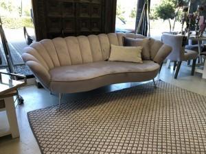Sofa grau Blume, Sofa in verschiedenen Farben, Breite 200 cm
