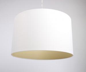 Pendelleuchte Lampenchirm weiß-creme, Ø 50 cm, dimmbar