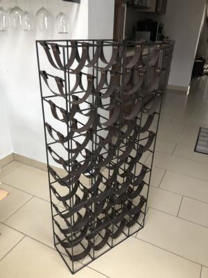 Weinregal Metall Gestell, Höhe 112 cm