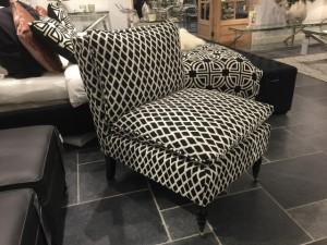 Sessel gepolstert, Sessel schwarz-beige