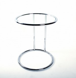 Beistelltisch aus Glas und Metall