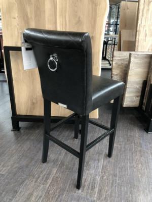 Barstuhl schwarz, Barhocker schwarz, Tresenhocker gepolstert schwarz, Sitzhöhe 75 cm