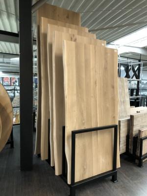 Tischplatte Eiche massiv, Tischplatte mit natürliche Baumkante, Breite 220 cm