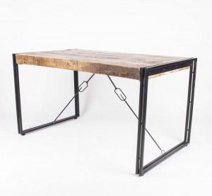 Esstisch aus Akazienholz im Industriedesign, 200 cm