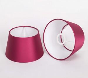 Lampenschirm für Tischleuchte, Form rund, Farbe Lila, Durchmesser 20 cm