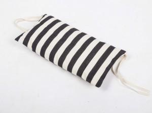 Nackenkissen schwarz-weiß gestreift für Liegestuhl, Nackenkissen 100 % Baumwolle