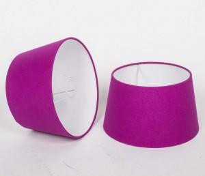 Lampenschirm für Tischleuchte, Form rund, Farbe Pink, Durchmesser 25 cm
