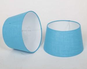 Lampenschirm für Tischleuchte, Form rund, Farbe türkis, Durchmesser 25 cm