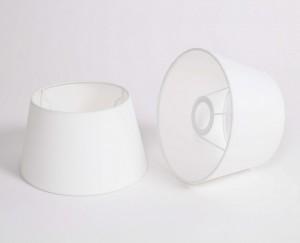 Lampenschirm für Tischleuchte, Form rund, Farbe Weiß, Durchmesser 20 cm