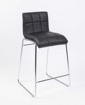 Barstuhl schwarz -chrom, Barhocker Sitzhöhe 65 cm