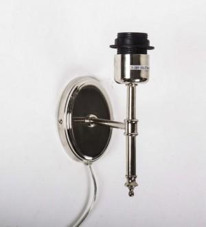 Wandleuchte oval verchromt Metall, Wandlampe oval Silber