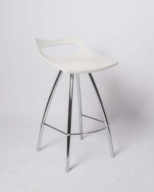 Barstuhl weiß,  Barhocker modern, Sitzhöhe 65 cm