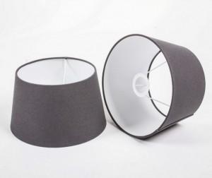 Lampenschirm rund, Farbe Grau, Ø 20 cm