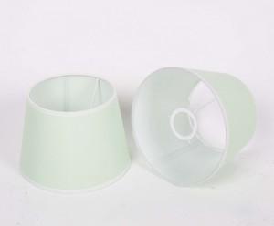 Lampenschirm für Tischleuchte, Form rund, Farbe Mint-Weiß, Durchmesser 20 cm
